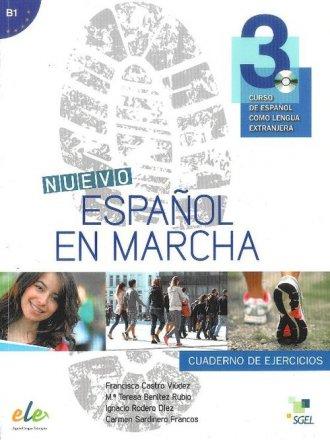 Nuevo Espanol en marcha 3. Ćwiczenia - okładka podręcznika
