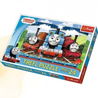 Wesołe lokomotywy (puzzle maxi - zdjęcie zabawki, gry