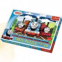 Wesołe lokomotywy (puzzle maxi 24-elem.) - zdjęcie zabawki, gry