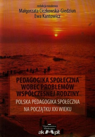 Pedagogika społeczna wobec problemów - okładka książki