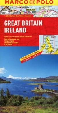Wielka Brytania. Irlandia. Mapa drogowa (skala 1:800 000) - okładka książki