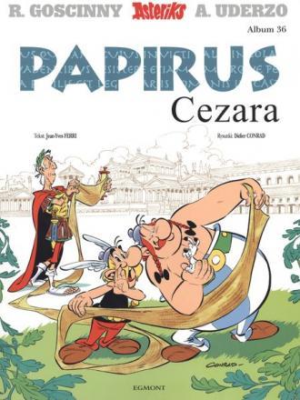 Asteriks. Tom 36. Papirus Cezara - okładka książki