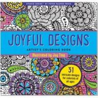 Kolorowanka artystyczna. Radosne wzory - okładka książki