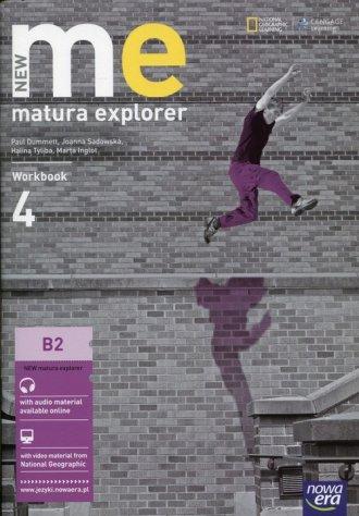 New Matura Explorer 4 Workbook. - okładka podręcznika