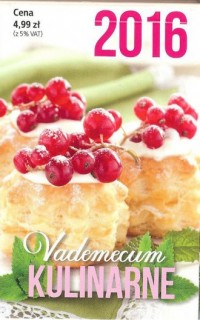 Vademecum kulinarne 2016 - okładka książki