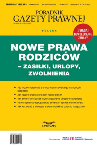 Poradnik Gazety Prawnej. Nowe prawa - okładka książki