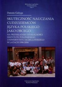 Skuteczność nauczania cudzoziemców - okładka podręcznika