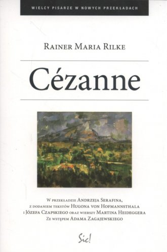 Cézanne. Seria: Wielcy pisarze - okładka książki