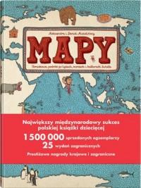 Mapy. Obrazkowa podróż po lądach, morzach i kulturach świata - okładka książki