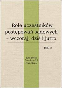 Role uczestników postępowań sądowych - okładka książki