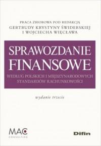 Sprawozdanie finansowe według polskich - okładka książki