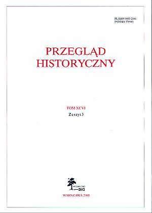 Przegląd Historyczny. Tom XCVI. - okładka książki
