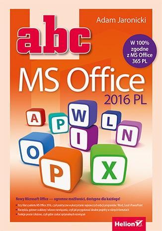 ABC MS Office 2016 PL - okładka książki
