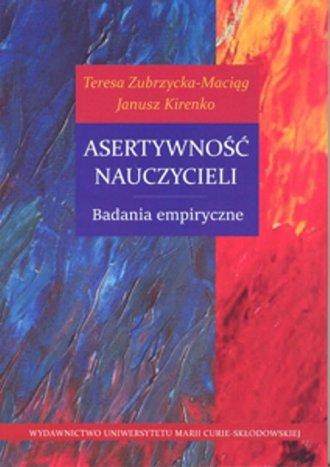 Asertywność nauczycieli. Badania - okładka książki