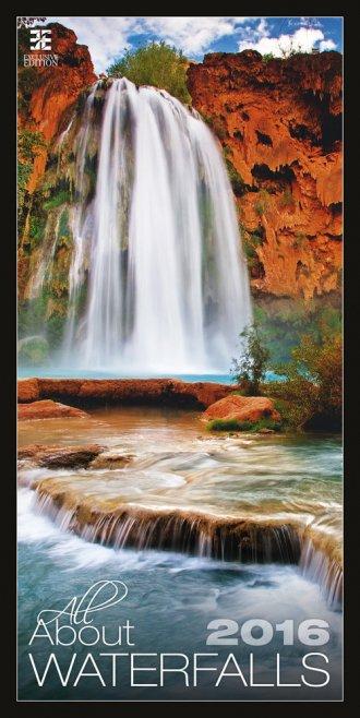 Kalendarz 2016. Wodospady - okładka książki