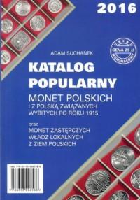 Katalog Popularny monet polskich i z Polską związanych wybitych po roku 1915 - okładka książki