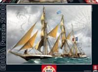 Statek pod pełnymi żaglami (puzzle 2000-elem.) - zdjęcie zabawki, gry