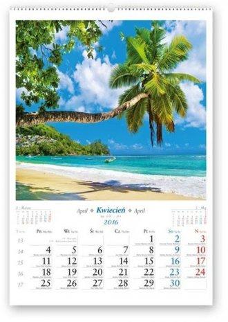 Kalendarz 2016. Słoneczne wakacje - okładka książki