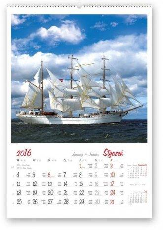 Kalendarz 2016. Żaglowce świata - okładka książki