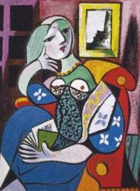 Picasso. Kobieta z książką (puzzle 1000-elem.) - zdjęcie zabawki, gry