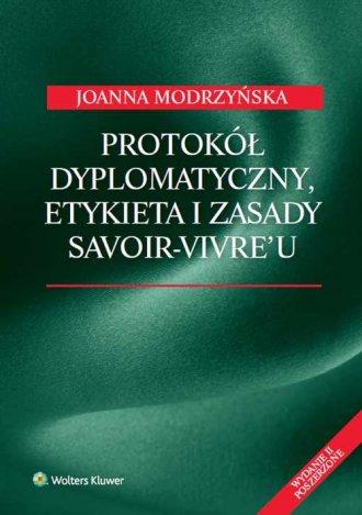 Protokół dyplomatyczny etykieta - okładka książki