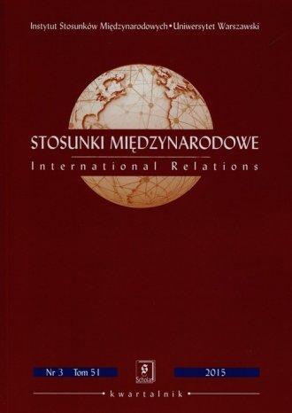 Stosunki Międzynarodowe. Tom 51 - okładka książki