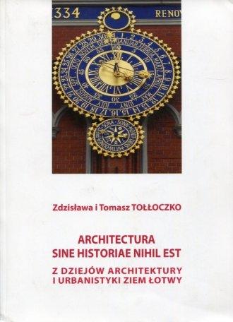 Architectura sine historiae nihil - okładka książki