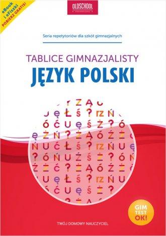 Język polski. Tablice gimnazjalisty. - okładka podręcznika