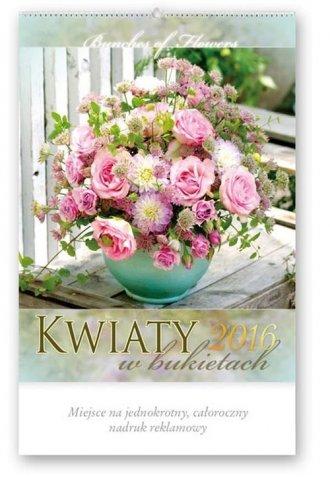Kalendarz artystyczny 2016. Kwiaty - okładka książki