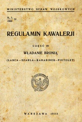 Regulamin kawalerii cz. 4. Władanie - okładka książki