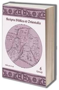Scripta Biblica et Orientalia 6(2014) - okładka książki
