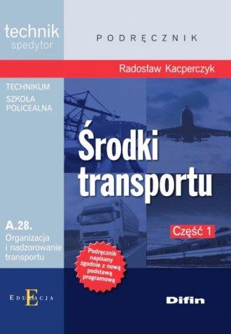 Środki transportu A.28 cz. 1 - okładka podręcznika
