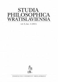 Studia Philosophica Wratislaviensia. Vol. X fasc. 4 (2015) - okładka książki