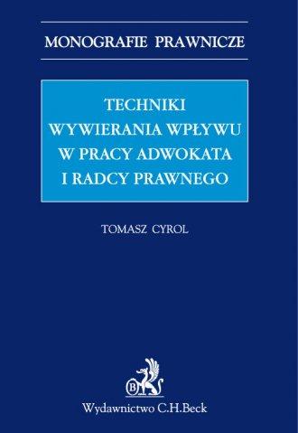Techniki wywierania wpływu w pracy - okładka książki