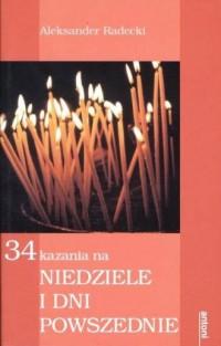 34 kazania na niedziele i dni powszednie - okładka książki