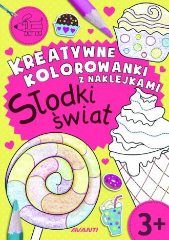 Kreatywne kolorowanki z naklejkami. - okładka książki