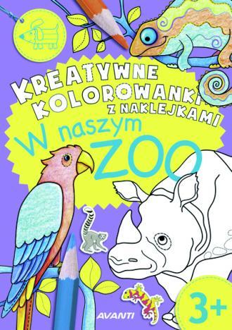 Kreatywne kolorowanki z naklejkami - okładka książki