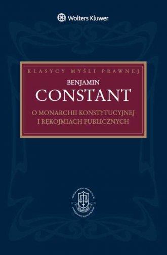 O monarchii konstytucyjnej i rękojmiach - okładka książki