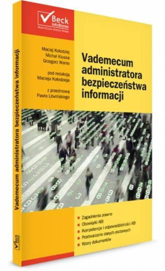 Vademecum administratora bezpieczeństwa - okładka książki