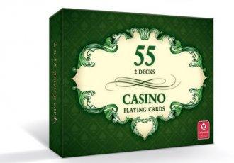 Casino (karty do gry 2 x 55 listków) - zdjęcie zabawki, gry