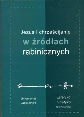 Jezus i chrześcijanie w źródłach - okładka książki