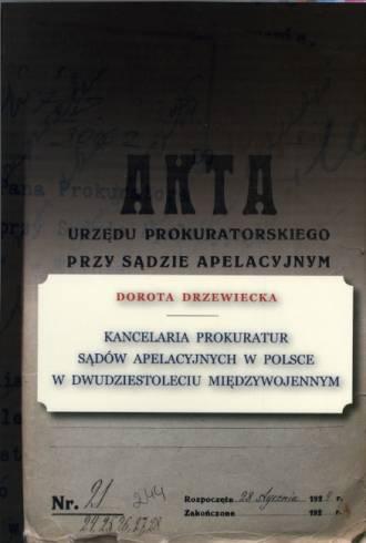 Kancelaria prokuratur sądów apelacyjnych - okładka książki