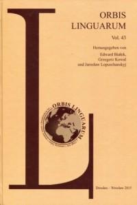 Orbis Linguarum vol. 43 - okładka książki