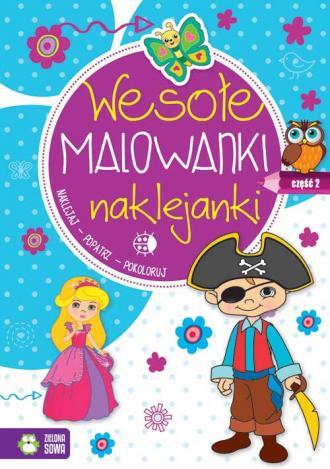 Wesołe malowanki, naklejanki cz. - okładka książki