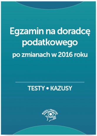 Egzamin na doradcę podatkowego. - okładka książki