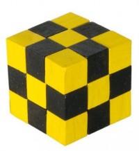Kostka. Magiczny wąż (drewno, żółty/czarny) - zdjęcie zabawki, gry