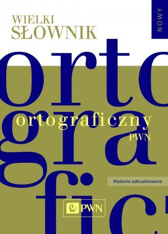 Wielki słownik ortograficzny PWN - okładka książki