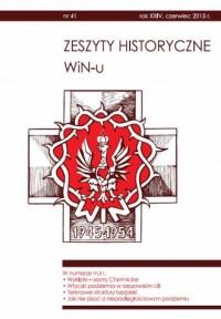 Zeszyty Historyczne WiN-u nr 41 (czerwiec 2015) - okładka książki