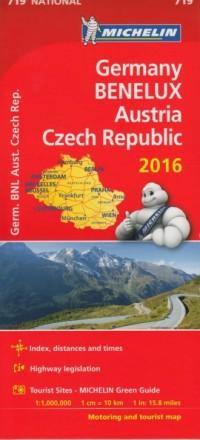 Germany, Benelux, Austria, Czech Republik (skala 1:1 000 000) - okładka książki