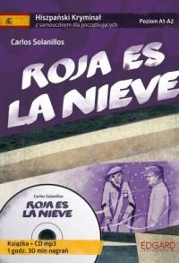 Hiszpański. Samouczek z kryminałem Roja es la nieve - okładka podręcznika